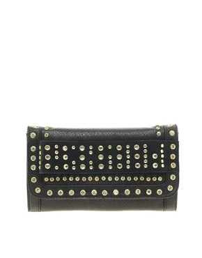 Image 1 ofRiver Island Studded Foldover Clutch Bag
