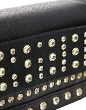 Image 4 ofRiver Island Studded Foldover Clutch Bag