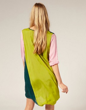Image 2 ofLouise Gray Silk Chiffon Drape Dress