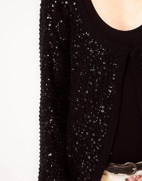 Image 3 ofReligion Cotton Sequin Cardigan