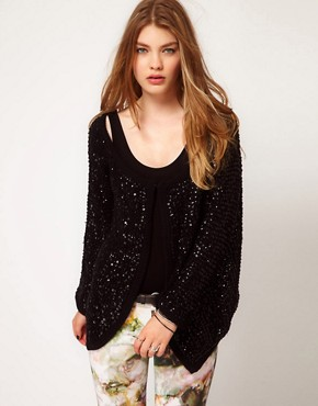 Image 1 ofReligion Cotton Sequin Cardigan