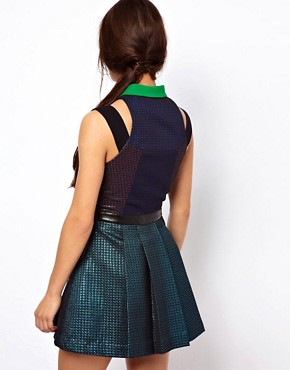 Image 2 of Three Floor Glitterati Dress With Collar Detail