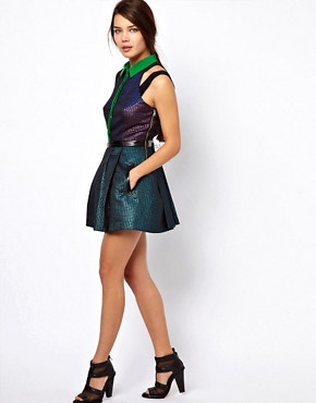 Image 4 ofThree Floor Glitterati Dress With Collar Detail