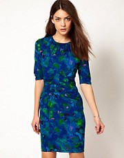 Whistles Bella Glazed Floral Bodycon Dress