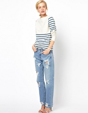 Image 4 ofMih Halsy Distressed Boyfriend Jeans