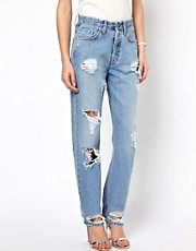 MiH  Halsy  Boyfriend-Jeans im Used-Look
