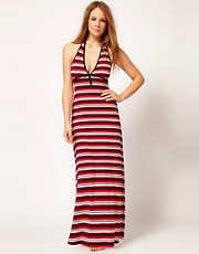 Huit Reglisse Stripe Maxi Dress