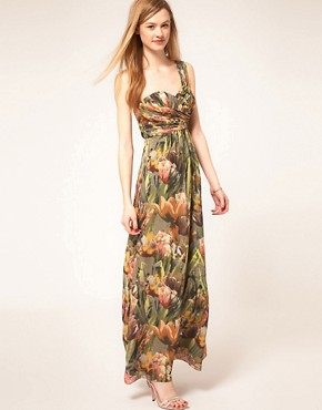 Image 4 ofTed Baker Tulip Print Maxi Dress