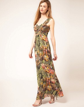 Image 1 ofTed Baker Tulip Print Maxi Dress