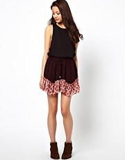 River Island Printed Flippy Skirt