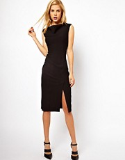 ASOS Pencil Dress with Slash Neck Detail