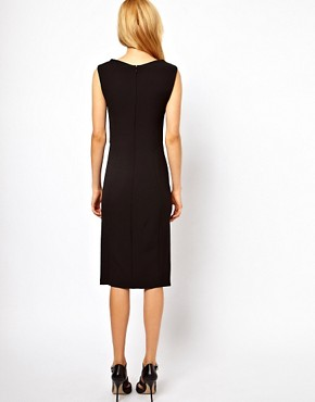 Image 2 ofASOS Pencil Dress with Slash Neck Detail
