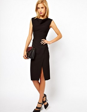 Image 4 ofASOS Pencil Dress with Slash Neck Detail