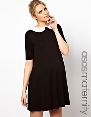 ASOS Maternity &ndash; Swing-Kleid mit Bubikragen und 1/2-rmeln