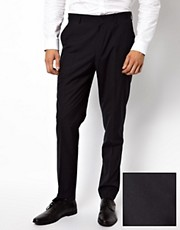 ASOS Slim Fit Suit Pants in Navy
