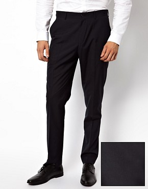 ASOS Slim Fit Suit Trousers in Navy