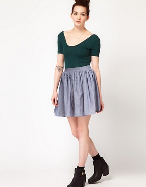 Image 1 ofAmerican Apparel Full Woven Skirt