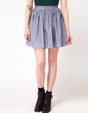 Image 4 ofAmerican Apparel Full Woven Skirt