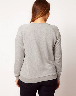 Image 2 ofASOS CURVE Sweatshirt With Fox in Window Panel