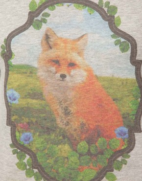 Image 3 ofASOS CURVE Sweatshirt With Fox in Window Panel