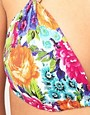 Image 3 ofBaku Garden Print Padded Triangle Bikini Top