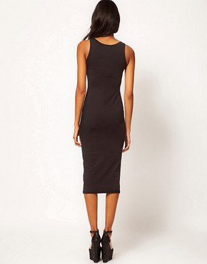 Image 2 ofASOS Midi Bodycon Dress With Square Neck