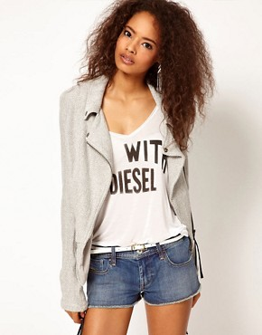 Image 1 ofDiesel Fabric Biker Jacket