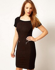 Karen Millen Panelled Dress with Zips