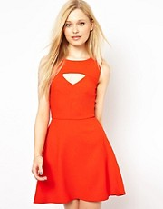 French Connection Cut Out Fit And Flare Dress