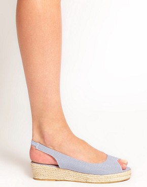 Image 3 ofASOS HAPPINESS Peep Toe Flatforms
