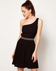 Mango Crossed Shoulder Strap Dress