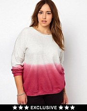 New Look Inspire Exclusive Dip Dye Sweat