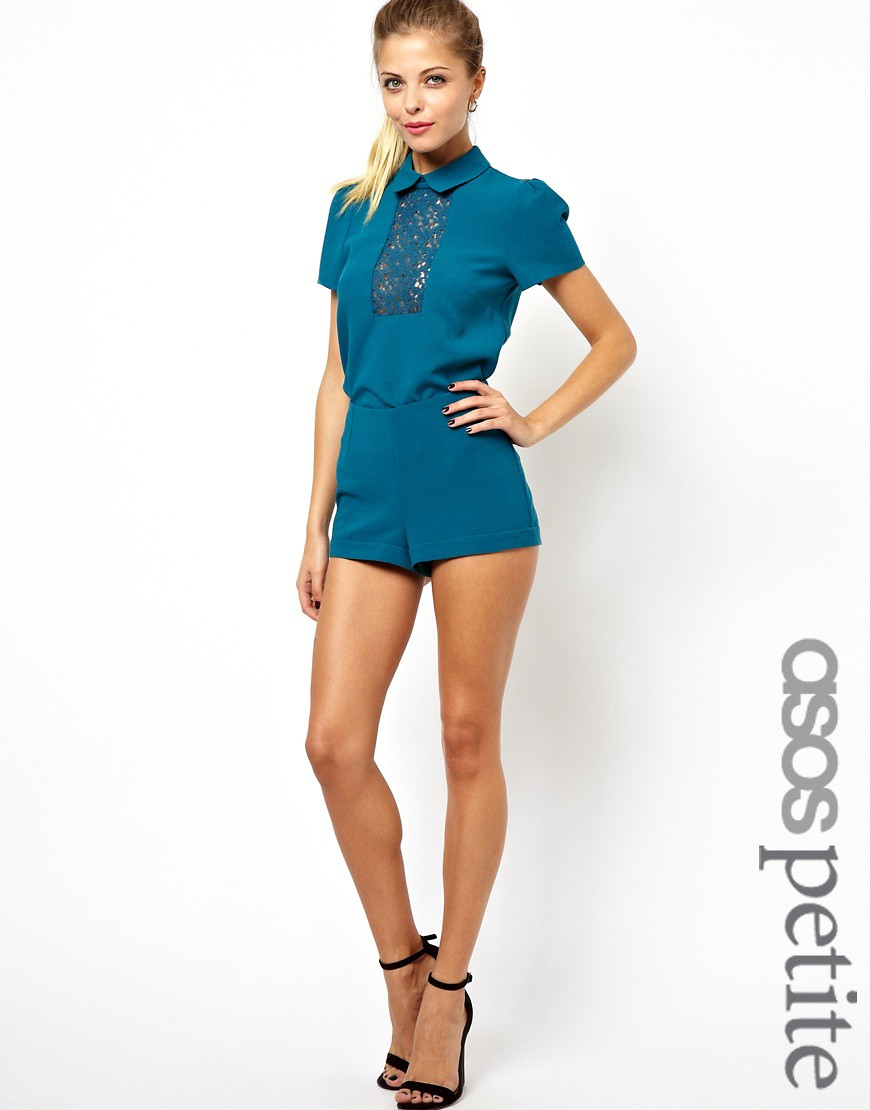 Image 1 of ASOS PETITE Exclusive Shorts With Exposed Zip Back