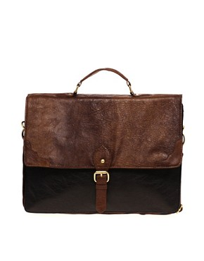 Image 1 ofASOS Contrast Smart Retro Satchel