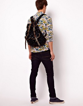 Image 3 ofASOS Canvas Backpack with Aztec Print