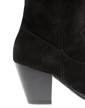 Image 2 ofFaith Rosalind Black Ruched Knee Boots