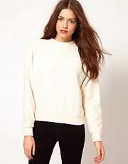 American Apparel Ribbed Oversized Sweatshirt