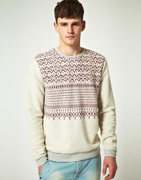 Image 1 ofASOS Sweatshirt With Aztec Print