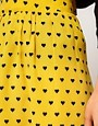 Image 3 ofASOS Skirt with Dipped Hem in Heart Print