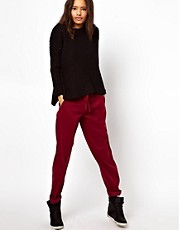 ASOS Peg Trousers with Draw Cord Detail