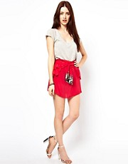 By Zoe Silk Skirt with Sequin Tie