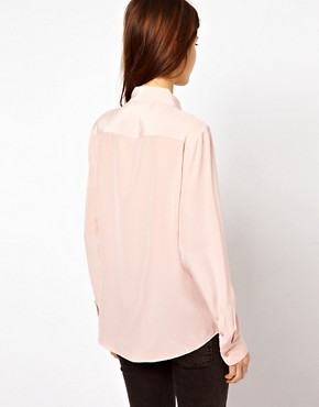 Image 2 ofEquipment Scallop Edge Brett Shirt in Silk