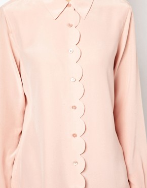 Image 3 ofEquipment Scallop Edge Brett Shirt in Silk
