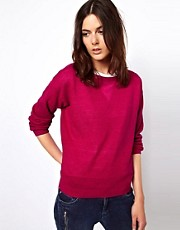 Vanessa Bruno Ath Sporty Linen Knit with Silk Insert