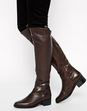ASOS CALIFORNIA LOVE Leather Knee High Boots