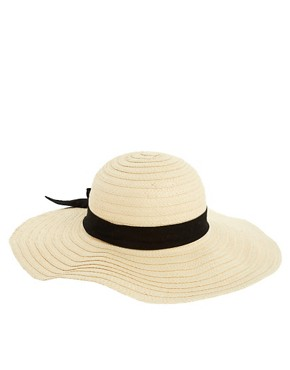 Image 2 ofASOS 70&#39;s Straw Floppy Hat
