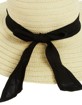 Image 3 ofASOS 70&#39;s Straw Floppy Hat
