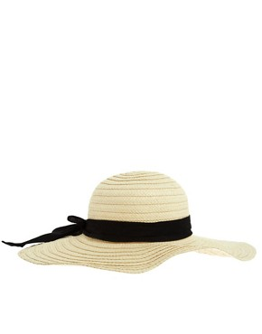 Image 4 ofASOS 70&#39;s Straw Floppy Hat