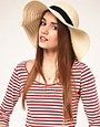 Image 1 ofASOS 70&#39;s Straw Floppy Hat