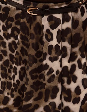 Image 3 of River Island Blurred Animal Print Maxi Skirt